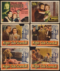 Night Club Scandal & Other Lot (Paramount, 1937). Other Company Lobby Cards (4), Title Lobby Card and Lobby Card (11...