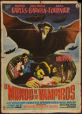 "Movie Posters:Horror, The World of Vampires (Cinematográfica A.B.S.A., 1961). Mexican OneSheet (26.5"" X 37""). Horror.. ..."
