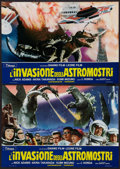 "Movie Posters:Science Fiction, Invasion of the Astro-Monster (Toho, 1965). Italian Photobustas Setof 10 (18"" X 26""). Science Fiction.. ... (Total: 10 Items)"