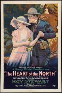 """The Heart of the North (C.B.C. Film Sales, 1921). One Sheet (27"""" X 40.5"""") Style A. Western"""