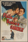 """Movie Posters:Mystery, Philo Vance's Gamble (PRC, 1947). One Sheet (27"""" X 41""""). Mystery....."""