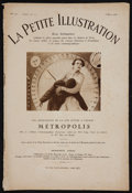 "Movie Posters:Science Fiction, Metropolis (UFA, 1928). La Petite Illustration French FilmMagazine (12 pages) (8"" X 11.5""). Science Fiction.. ..."