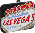 Luxury Accessories:Bags, Judith Leiber Full Bead Extremely Rare Sin City Vegas Minaudiere Evening Bag. ...