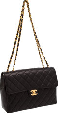 "Luxury Accessories:Bags, Chanel Classic Black Lambskin Leather 12"" Flap Bag. ..."