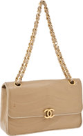 Luxury Accessories:Bags, Chanel Beige Lambskin Leather Classic Single Flap Bag with GoldHardware. ...