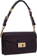 Luxury Accessories:Bags, Prada Dark Raisin Deerskin Bag. ...