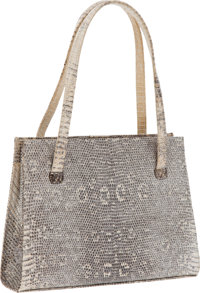 Lambertson Truex Metallic Ring Lizard Small Bag