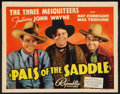 "Movie Posters:Western, Pals of the Saddle (Republic, 1938). Title Lobby Card (11"" X 14"").Western.. ..."