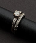 Estate Jewelry:Rings, Diamond & Gold Wedding Band. ...