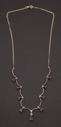 Estate Jewelry:Necklaces, Estate Amethyst & Gold Necklace. ...
