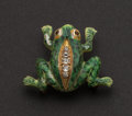 Estate Jewelry:Brooches - Pins, Unique Diamond & Gold Frog Pin. ...