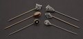 Estate Jewelry:Stick Pins and Hat Pins, Six Antique Gold Stick Pins. ... (Total: 6 Items)