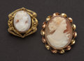 Estate Jewelry:Cameos, Unique Gold Shell Cameos. ... (Total: 2 Items)