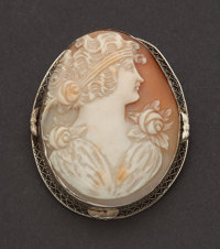 Antique Gold Shell Cameo