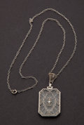 Estate Jewelry:Other , Antique Filigree Rock Crystal Pendant & Bracelet. ...