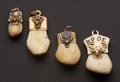 Estate Jewelry:Other , Four Gold Ivory Elk's Teeth. ... (Total: 4 Items)