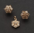 Estate Jewelry:Other , Estate Diamond & Gold Earrings & Pendant. ...