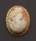 Estate Jewelry:Cameos, Antique Gold Cameo. ...