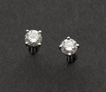 Estate Jewelry:Earrings, Diamond Stud Earrings. ...