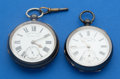 Timepieces:Pocket (pre 1900) , Two Silver Key Winds Pocket Watches. ... (Total: 2 Items)