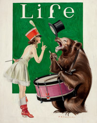 FRANK XAVIER LEYENDECKER (American, 1877-1924) The Balance of Power, Life Magazine Cover, March 9, 1922