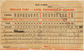 Golf Collectibles:Autographs, 1930 Bobby Jones Signed Spectator's Scorecard from U.S. AmateurTournament--Completion of Historic Grand Slam!...
