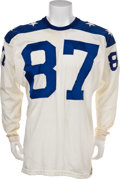 Football Collectibles:Uniforms, 1963 Charlie Hennigan Game Worn American Football League All Star Game Jersey....