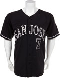 Baseball Collectibles:Uniforms, 2009 Buster Posey Game Worn San Jose Giants (Class A) Jersey....