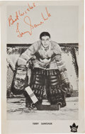 Hockey Collectibles:Photos, Mid-1960's Terry Sawchuk Signed Toronto Maple Leafs Team IssuedPhotograph....