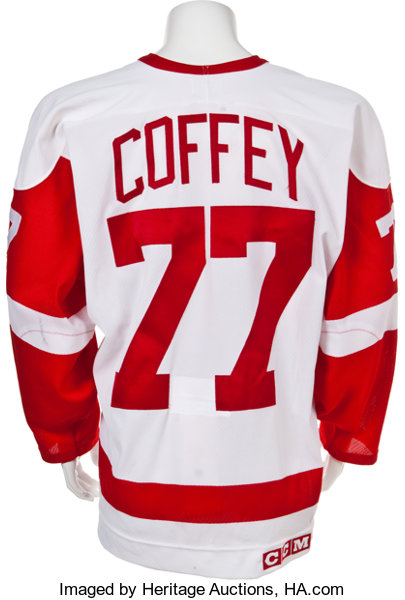 1994-95 Paul Coffey Game Worn Detroit Red Wings Stanley Cup  1162810be