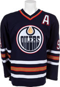 Hockey Collectibles:Uniforms, 2005-06 Ryan Smyth Game Worn, Signed Edmonton Oilers Jersey. ...