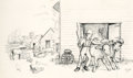 Mainstream Illustration, GARTH WILLIAMS (American, 1912-1996). Farmer Boy, (The LittleHouse series), original cover art, 1953. Pencil on tracing...(Total: 4 Items)