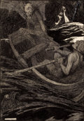 Pulp, Pulp-like, Digests, and Paperback Art, WILLIAM HEATH ROBINSON (British, 1872-1944). When My Lords theDevils Have a Mind to Recreate Themselves on the Waters, Ch...