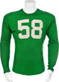 Football Collectibles:Uniforms, 1950's Notre Dame Fighting Irish Game Worn Jersey....