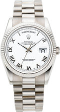 Timepieces:Wristwatch, Rolex Ref. 118239 White Gold Gent's President Day-Date OysterPerpetual, circa 2002. ...