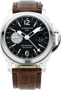 Timepieces:Wristwatch, Panerai Luminor GMT Automatic Ocean Chronometer, OP 6554 BB 1131662. ...