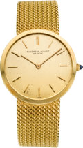 Timepieces:Wristwatch, Audemars Piguet 18K Gold Bracelet Wristwatch, circa 1970's. ...