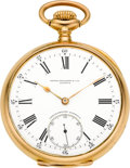 Timepieces:Pocket (post 1900), Patek Philippe Gold Chronometro Gondolo, circa 1910. ...