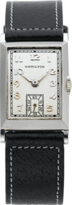 "Timepieces:Wristwatch, Hamilton Vintage Platinum ""Rutledge"" Wristwatch, circa 1935. ..."