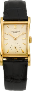 Timepieces:Wristwatch, Patek Philippe Ref. 2456 Rare Vintage Hourglass RectangleWristwatch, circa 1951. ...