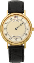Timepieces:Wristwatch, Breguet Rare Ref. 3620 Gold Automatic Jump Hour Gentleman'sWristwatch, circa 1998. ...