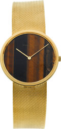 Timepieces:Wristwatch, Vacheron Constantin Gent's Gold Wristwatch With Tiger's Eye Dial, circa 1970's. ...