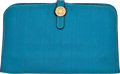 Luxury Accessories:Accessories, Hermes Blue Jean Togo Leather Dogon Wallet . ...