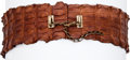 Luxury Accessories:Accessories, Alexander McQueen Important Runway Crocodile Tail Belt. ...