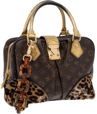 Heritage Vintage: Louis Vuitton by Stephen Sprouse Classic Monogram Canvas and Leopard Pony Hair Adele