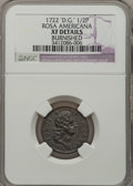 1722 1/2P Rosa Americana Halfpenny, D. G. REX--Burnished-- NGC Details. XF. NGC Census: (0/2). PCGS Population (2/16). (...