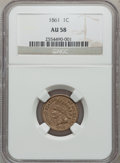 Indian Cents: , 1861 1C AU58 NGC. NGC Census: (100/1344). PCGS Population (75/929).Mintage: 10,100,000. Numismedia Wsl. Price for problem ...