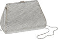Luxury Accessories:Bags, Judith Leiber Silver Full Bead Classic Minaudiere Evening Bag. ...