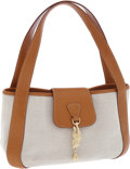 Luxury Accessories:Bags, Kieselstein-Cord Beige Canvas and Leather Classic Shoulder Bag withFrog Hardware. ...