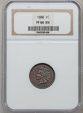 Proof Indian Cents: , 1888 1C PR64 Brown NGC. NGC Census: (98/112). PCGS Population(69/39). Mintage: 4,582. Numismedia Wsl. Price for problem f...